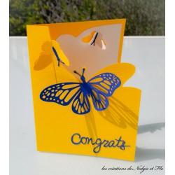 Carte - Congrats Papillon