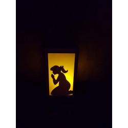 Lanterne - Petite Fille qui Prie