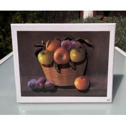 Tableau 3D Panier de fruits