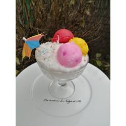 Bougie - glace mangue/fraise
